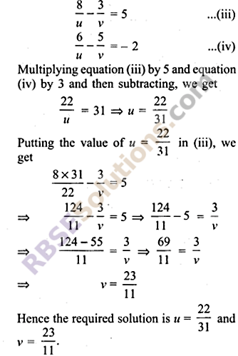 RBSE Solutions for Class 9 Maths Chapter 4 Linear Equations in Two Variables Ex 4.2 8