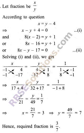 RBSE Solutions for Class 9 Maths Chapter 4 Linear Equations in Two Variables Miscellaneous Exercise 5