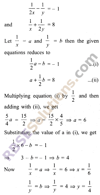 RBSE Solutions for Class 9 Maths Chapter 4 Linear Equations in Two Variables Miscellaneous Exercise 4