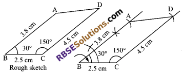 RBSE Solutions for Class 9 Maths Chapter 9 Quadrilaterals Ex 9.3 7
