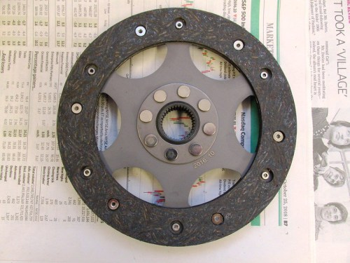 Clutch Plate-Inside Surface Goes Toward Flywheel