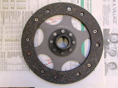 Clutch Plate-Outside Surface with Sleeve For Transmission Input Shaft Faces You When Installed