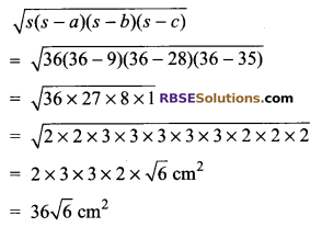 RBSE Solutions for Class 9 Maths Chapter 11 Area of Plane Figures Additional Questions 18