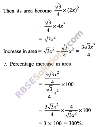RBSE Solutions for Class 9 Maths Chapter 11 Area of Plane Figures Additional Questions 3
