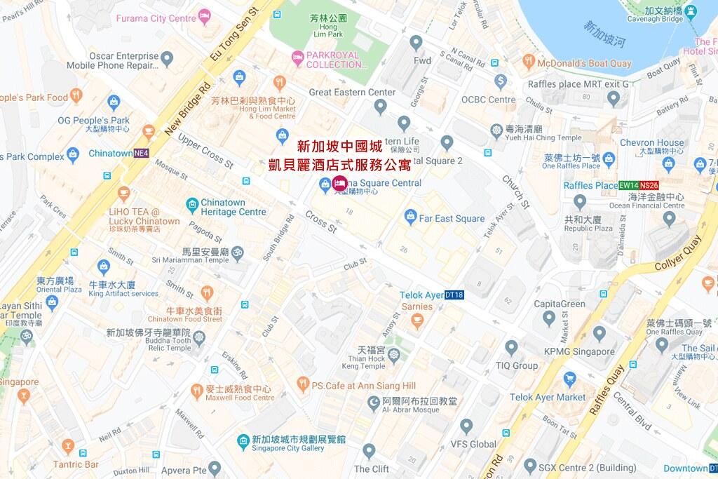 Capri by Fraser China Square Singapore Map