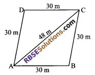 RBSE Solutions for Class 9 Maths Chapter 11 Area of Plane Figures Miscellaneous Exercise 6