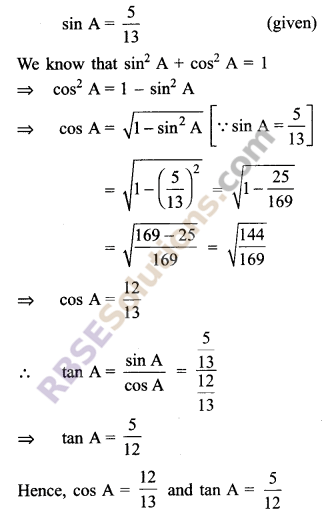RBSE Solutions for Class 9 Maths Chapter 14 Trigonometric Ratios of Acute Angles Ex 14.2 7