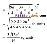 RBSE Solutions for Class 9 Maths Chapter 11 Area of Plane Figures Additional Questions 12