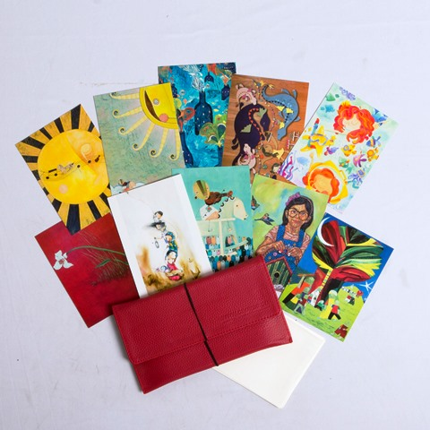 Art cards by Filipino artists Sergio Bumatay III, Japs Antido, Farley Del Rosario, Romeo Forbes Jr., Liza Flores, Aldy Aguirre, and Tippy Go