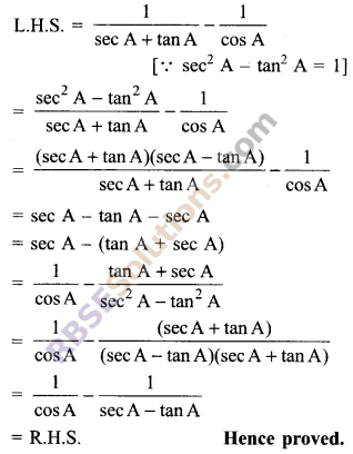 RBSE Solutions for Class 9 Maths Chapter 14 Trigonometric Ratios of Acute Angles Additional Questions 33