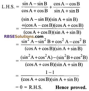 RBSE Solutions for Class 9 Maths Chapter 14 Trigonometric Ratios of Acute Angles Miscellaneous Exercise 43