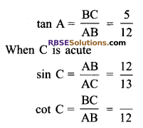 RBSE Solutions for Class 9 Maths Chapter 14 Trigonometric Ratios of Acute Angles Miscellaneous Exercise 10
