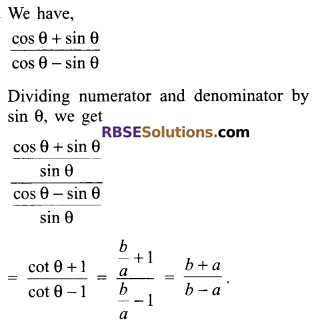 RBSE Solutions for Class 9 Maths Chapter 14 Trigonometric Ratios of Acute Angles Miscellaneous Exercise 23
