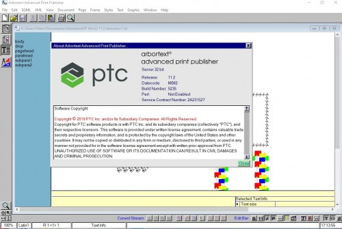 Working with PTC Arbortext Advanced Print Publisher 11.2 M060 full license