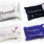 Luxury Embroidered Microfibre Bath Pillow For Neck Support W Suction Cups Ebay