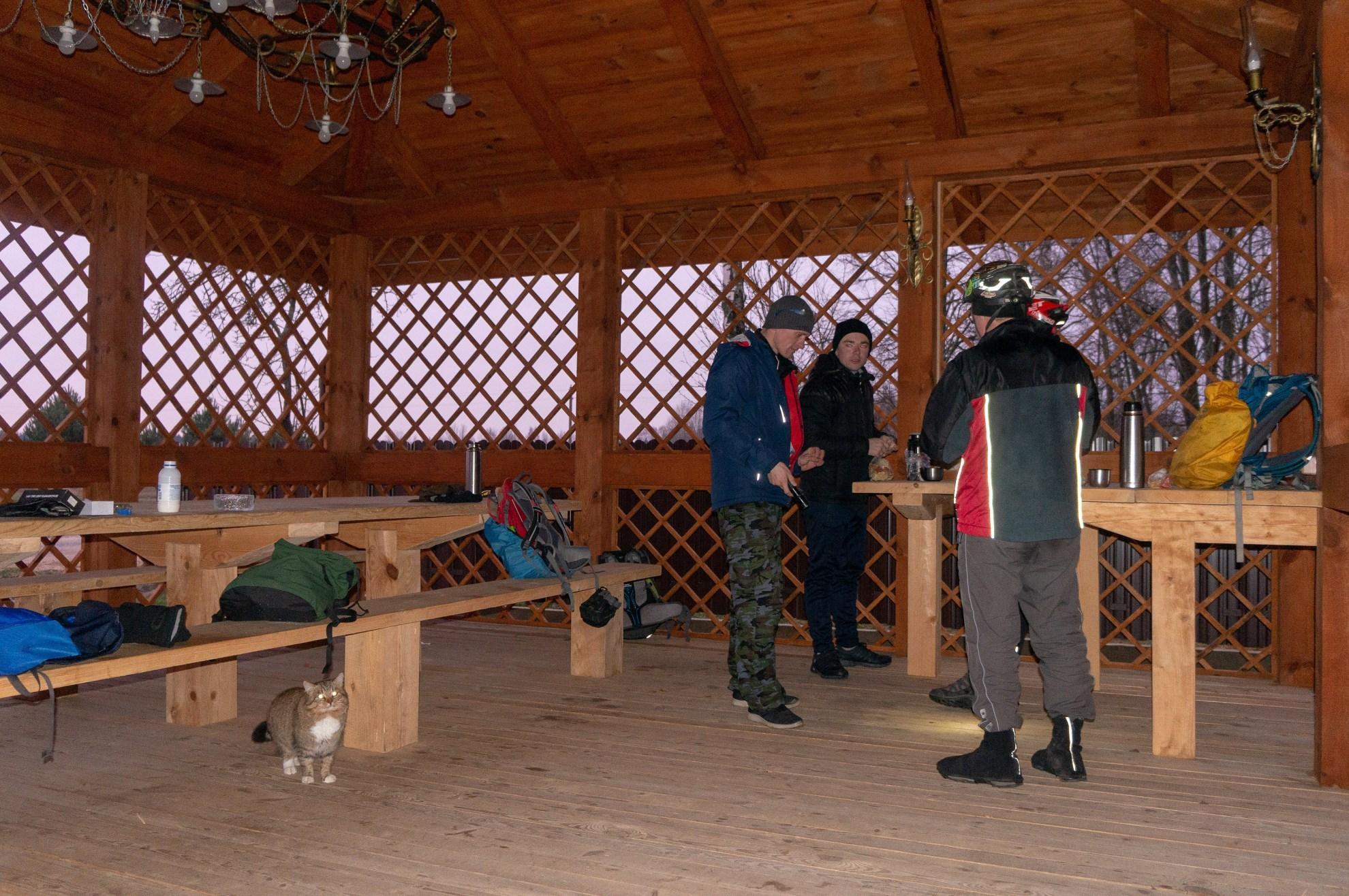 Беседка в деревне Пересудовичи