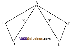 RBSE Solutions for Class 9 Maths Chapter 10 Area of Triangles and Quadrilaterals Additional Questions 18