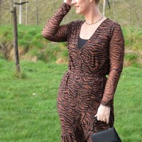 Outfit of the week: black 'n brown wrap dress