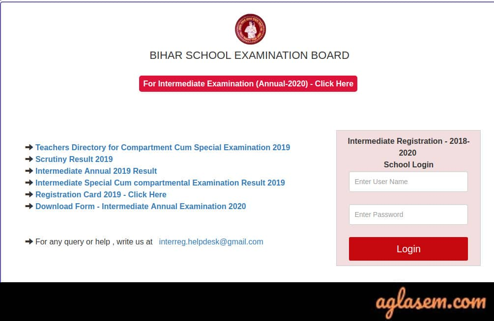 Bihar Board 12th Admit Card 2020