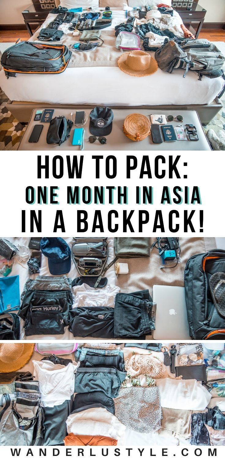 ONE MONTH IN SOUTHEAST ASIA IN ONE BACKPACK!,one backpack,one backpack reddit,reddit travel,asia backpacking,asia travel backpacking,asia travel backpack,one month in asia,one month in asia backpack,what to pack for asia,what to pack for japan,what to pack for bali,bali backpack,bali backpacking,what to pack for singapore,what to pack for malaysia,bali travel,japan travel,asia travel,singapore travel,malaysia travel,backpacking in asia,backpacking | Wanderlustyle.com
