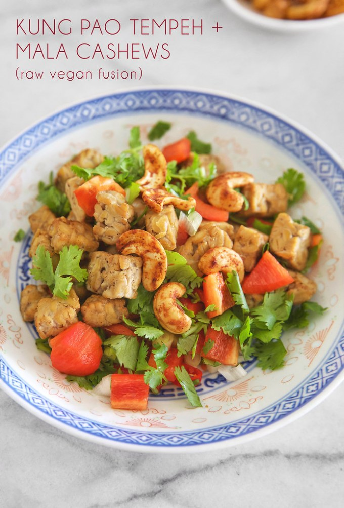 Kung Pao Tempeh with Mala Cashews (Raw Vegan Fusion)