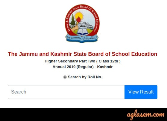 JKBOSE 12th Result 2019 For Annual Regular Kashmir Division
