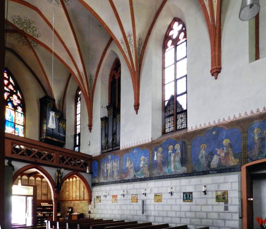 pintura al fresco interior Iglesia Monasterio franciscano Marienthal Kloster franziskaner Marienthal Geisenheim Alemania 02