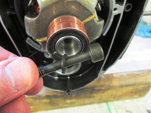Rotor Bolt with Split Lock Washer