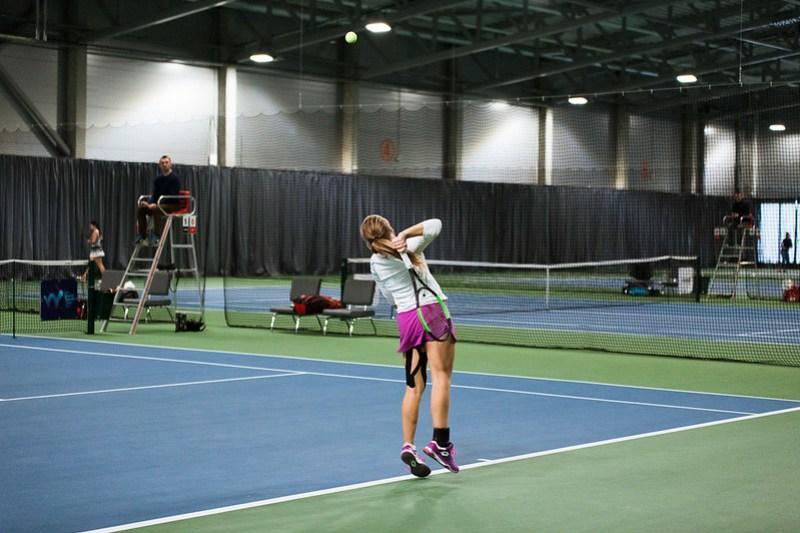 """Starptautiskās ITF pasaules tenisa tūres sacensības sievietēm """"Liepaja Open"""" 4.diena. Foto: Mārtiņš Vējš / 4th day of ITF Women's World Tennis Tour """"Liepaja Open"""". Photo: Mārtiņš Vējš"""