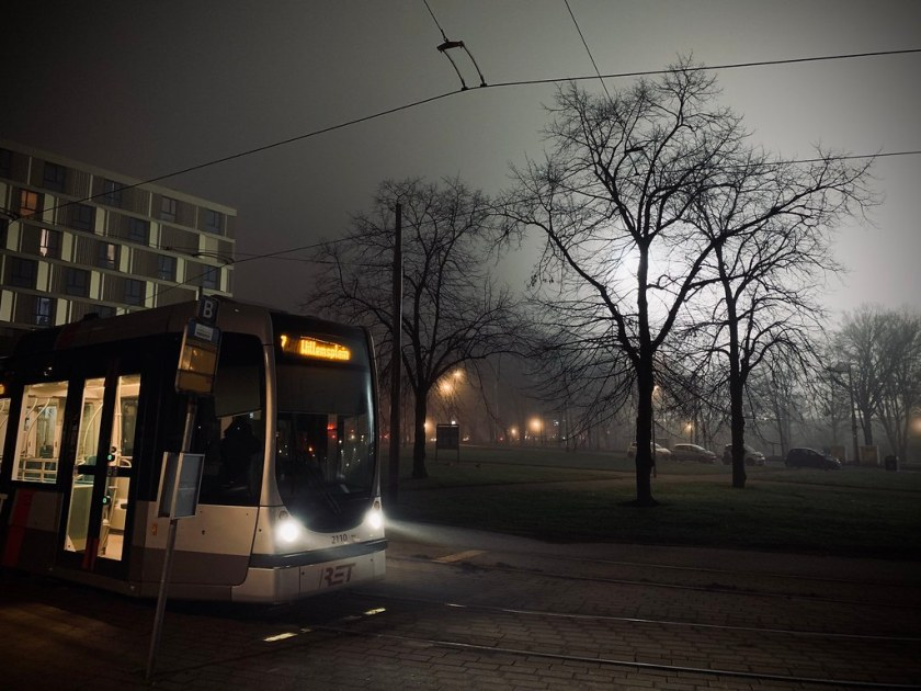 Rotterdam Daily Photo: Misty Tram Stop