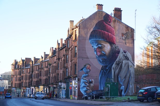 The Bird That Never Flew, mural by Smug - Glasgow