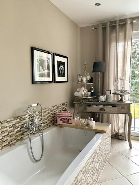Badkamer landelijk klassiek gordijn