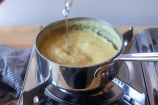 cooking the custard