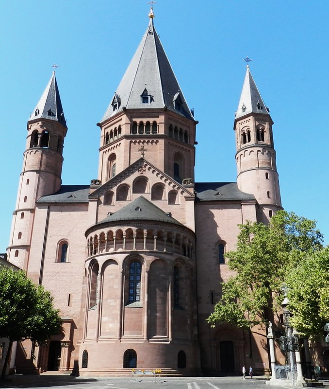 exterior Catedral de Maguncia Mainzer Do Mainz Valle del Rin Alemania 04