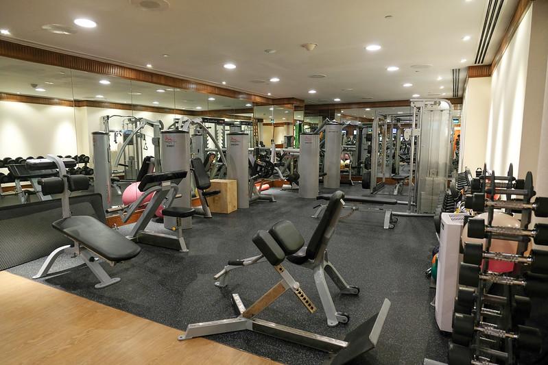 fitness center gym at regent singapore
