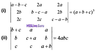 Plus Two Maths Determinants 3 Mark Questions and Answers 5