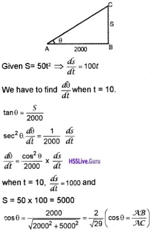Plus Two Maths Application of Derivatives 3 Mark Questions and Answers 19