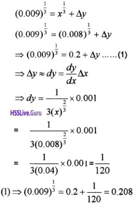 Plus Two Maths Application of Derivatives 4 Mark Questions and Answers 39