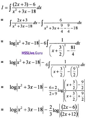 Plus Two Maths Integrals 6 Mark Questions and Answers 64