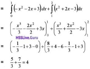 Plus Two Maths Integrals 4 Mark Questions and Answers 55