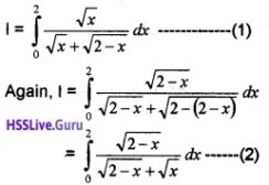 Plus Two Maths Integrals 6 Mark Questions and Answers 93