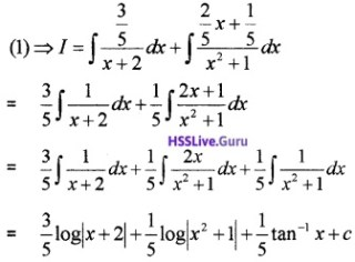 Plus Two Maths Integrals 4 Mark Questions and Answers 29