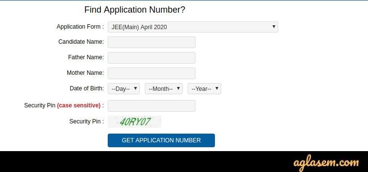 JEE Main 2020 forgot login credentials