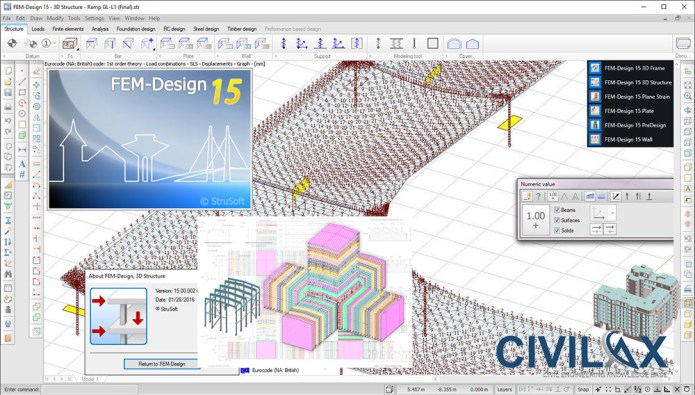 Working with StruSoft FEM-Design Suite 15 full license