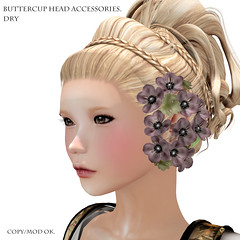 *NAMINOKE*ButterCup Head Accessories dry