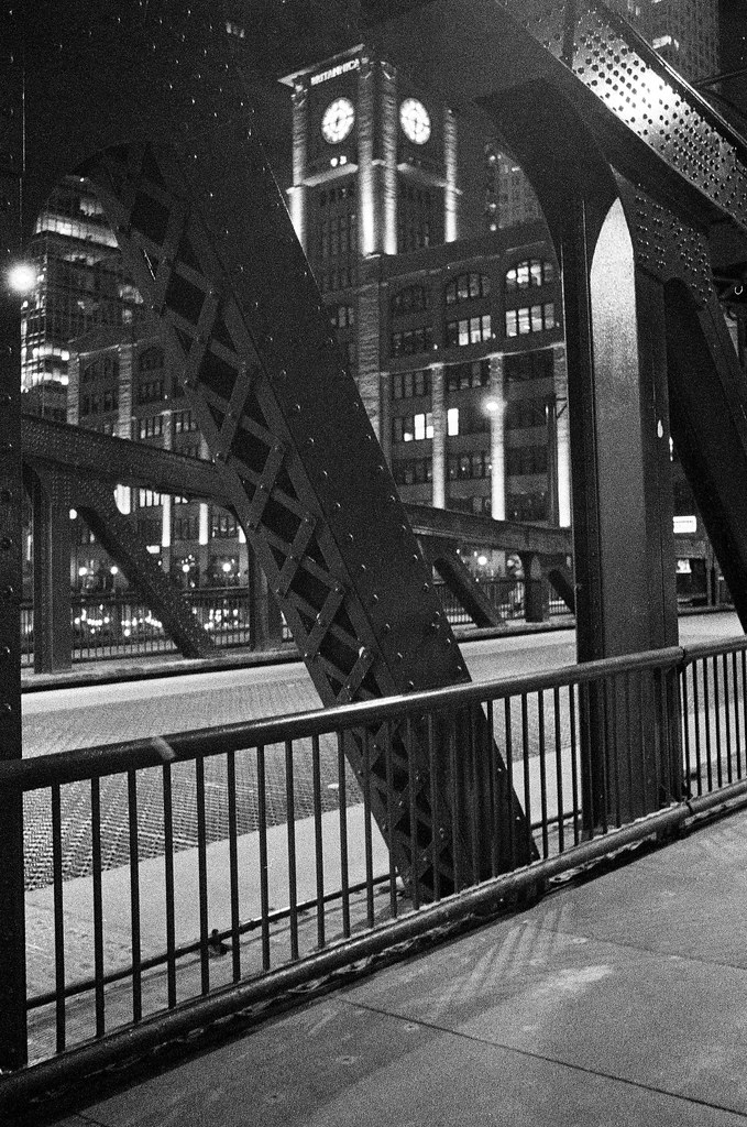 Around the Chicago River - Kodak T-Max P3200