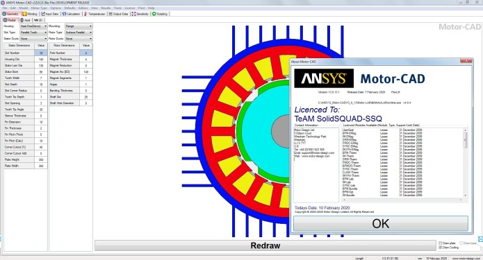 Working with ANSYS Motor-CAD v13.0.13 full