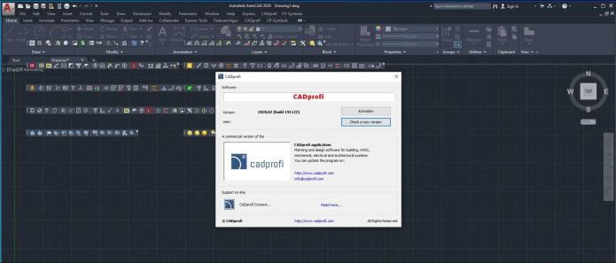 Working with CADprofi 2020.02 full license