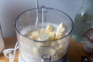 pulse butter into dry ingredients