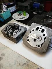 Testata Moto Guzzi V50